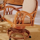 Indoor swivel chairs south sea for Antigua wicker chaise